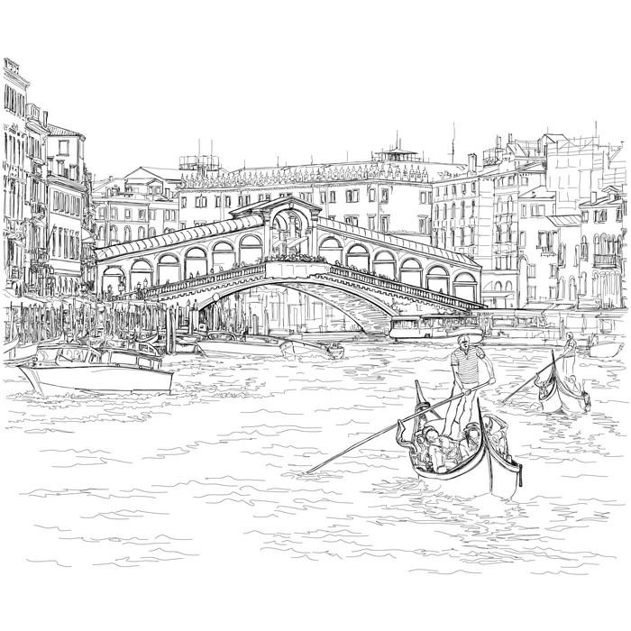 Венеция в средневековье раскраска